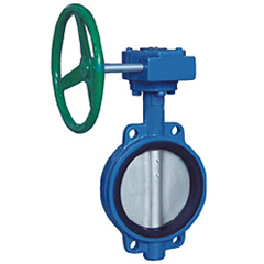 D371X wafer wormed soft seat butterfly valve