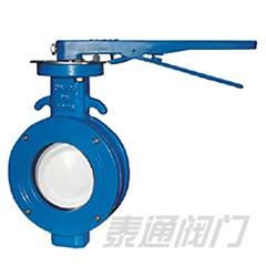 WBLX single eccentric manual wafer soft seat butterfly valve