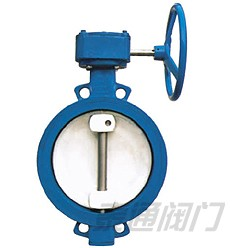 WBGX\D372X wsingle eccentric wormed wafer type soft seat butterfly valve