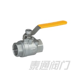 Female threaded two pieces ball valve