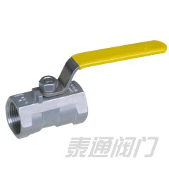 Female threaded one piece ball valve